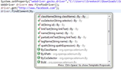 Selenium WebDriver Commands