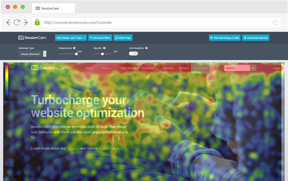 SessionCam - Top Heatmap Tools